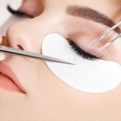 39806006 - woman eye with long eyelashes. eyelash extension